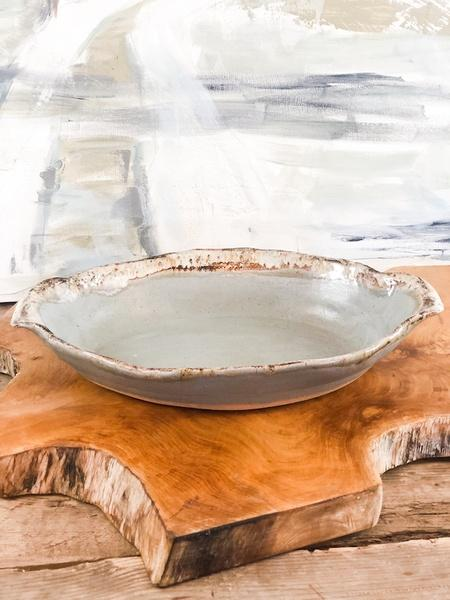 Etta B Pottery  Serving Pieces Oval Dish w/Draping Handles Assorted EBP-248 $77.00