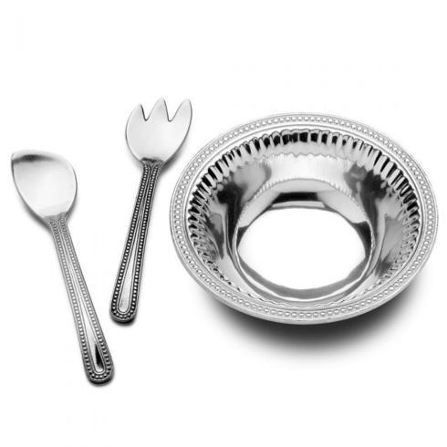 Wilton Armetale  Flutes and Pearls 3pc Large Salad WLT-032 $110.00