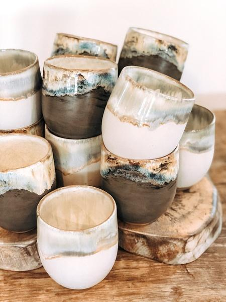 Etta B Pottery  Dinnerware - Townhouse Simply White Stemless Wine EBP-765 $37.00