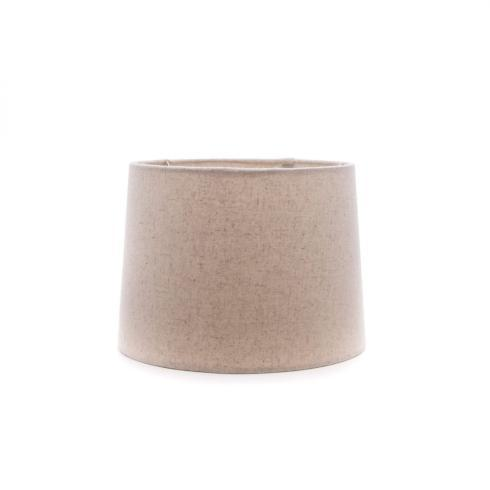 "Simon Pearce  Lampshades 8"" Natural Linen Barrel Shade SPL-206 $75.00"