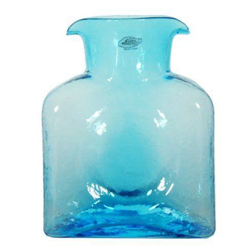 Blenko Glass Co   Ice Blue Water Bottle BG-007 $52.00