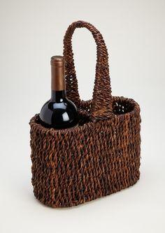 Woodard & Charles   2 Bottle Abaca Wine Holder WAC-016 $33.00