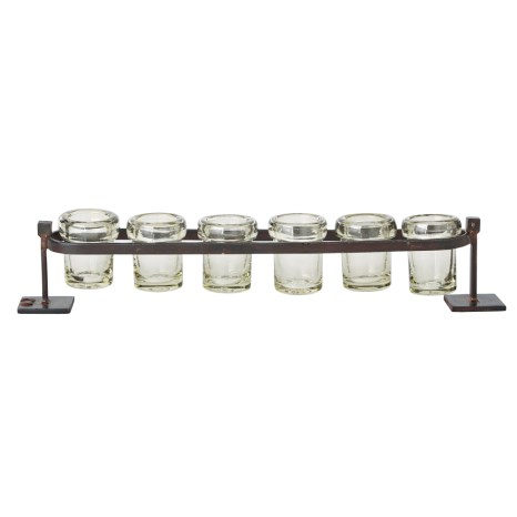Jan Barboglio   6-Step Firedance Railroad Votives JBL-172 $305.50