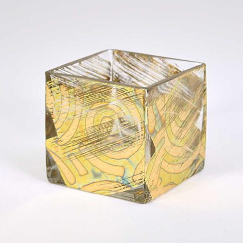 Tamara Childs   4X4 Cube Vase Gold TCH-005 $39.00