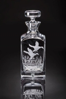 Julie Wear Designs   Flying Mallard Square Decanter JWD-103 $279.00