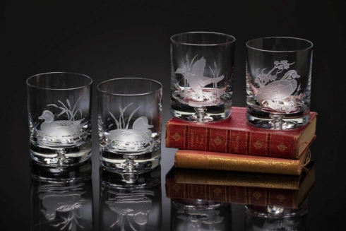 Julie Wear Designs   Mallard Double Old Fashioned Set of 4 JWD-101 $199.00