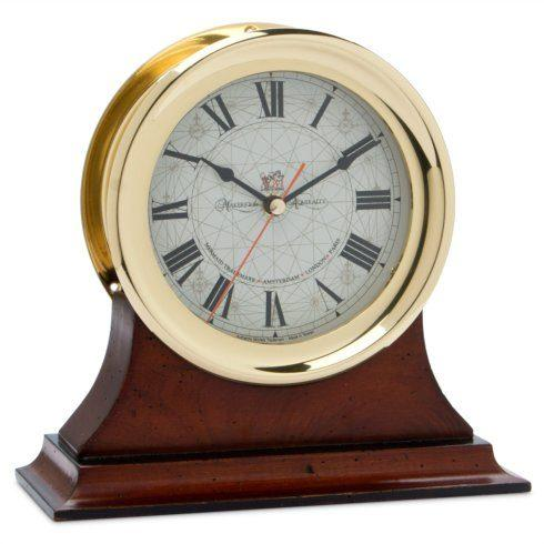 $288.00 Captain\'s Clock and Wood Stand AMO-027