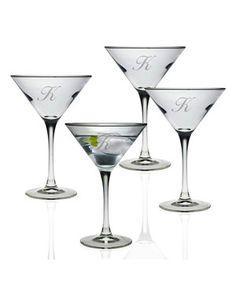 Susquehanna Glass   Martini 7.5oz 3 Letter Interlock set/4 SQG-036 $60.00