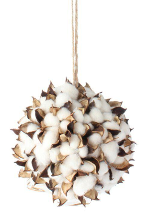 Babcock Exclusives   RAZ - Cotton Boll Ornament RAZ-002 $7.25