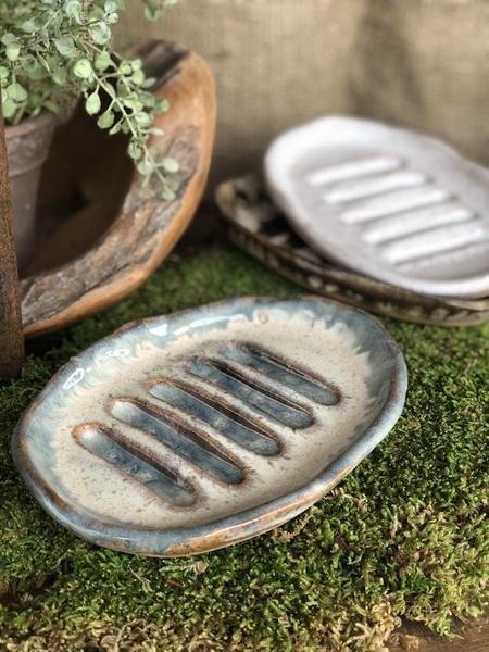 Etta B Pottery  Decorative Soap Dish Assorted EBP-034 $26.00