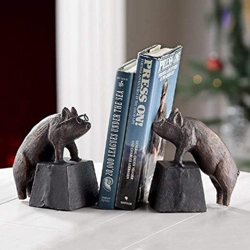 $66.00 Nearsighted Pig Bookends SPC-001