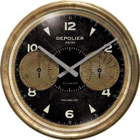 "Babcock Exclusives  Trademark Time 23"" Black Chronograph Clock TMT-013 $158.00"
