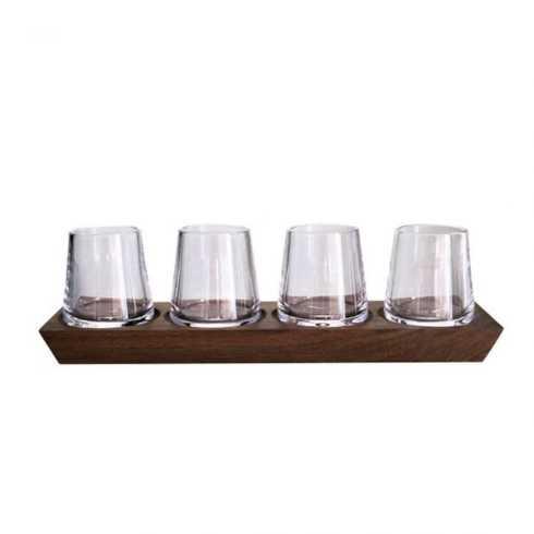 Simon Pearce  Ludlow Whiskey Set w/Wood Base SPG-674 $250.00
