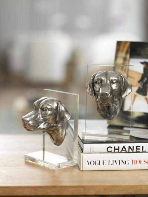 $79.00 Dog Lucite Bookends Pair ZOD-014