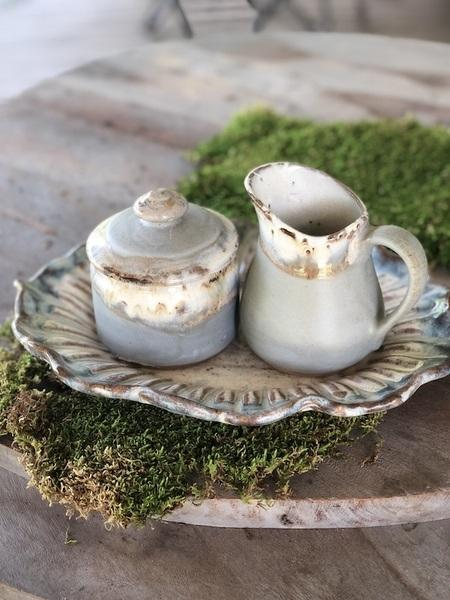 Etta B Pottery  Serving Pieces Creamer and Sugar Set Assorted EBP-242 $77.00
