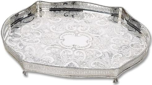 Babcock Exclusives  Reed & Barton Gallery Tray Oval w/Claw Feet RB-207 $535.00
