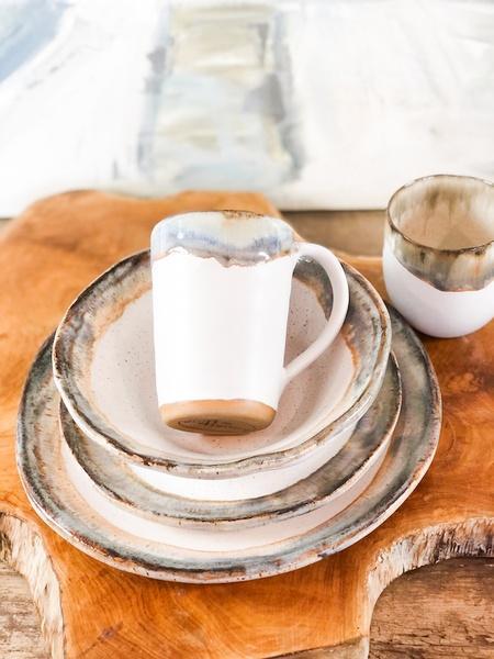 Etta B Pottery  Dinnerware - Farmhouse Magnolia Round Salad EBP-832 $40.00