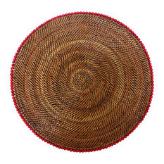 Calaisio   Round Placemat w/Red Beads CAL-165 $37.50