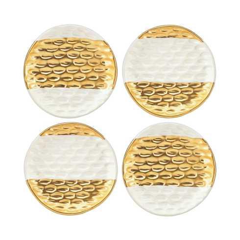 Michael Wainwright  Truro Gold Canape Plates Set/4 MWP-310 $100.00