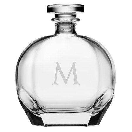 Susquehanna Glass   Puccini Decanter 1 Letter Block SQG-232 $60.00