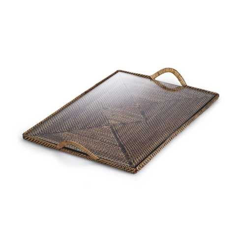 Calaisio   Medium Rectangular Tray w/Glass CAL-109 $90.00