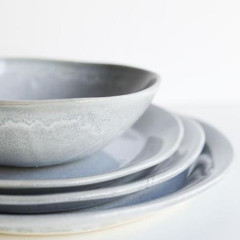 Alex Marshall   Slim Speckled Blue Round Side Plate AMS-421 $42.00