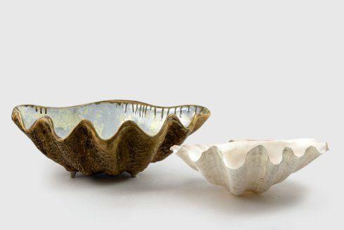 Alison Evans  Abalone & Tortoise Medium Clam Bowl AEC-039 $315.00