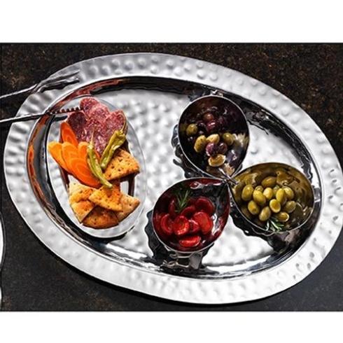 Babcock Exclusives  Mary Jurek Arcadia Oval Meat Platter MJD-085 $410.00