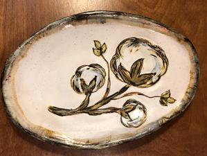 Etta B Pottery  Serving Pieces Cotton Oval Platter EBP-437 $64.00