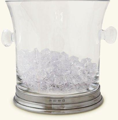 $275.00 Glass Ice Bucket w/Handles MTH-029