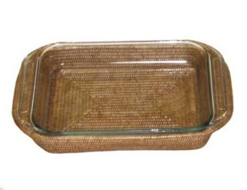 Babcock Exclusives   Artifacts - 2pc Med. Rectangular Baker Basket w/Pyrex ATC-092 $96.00