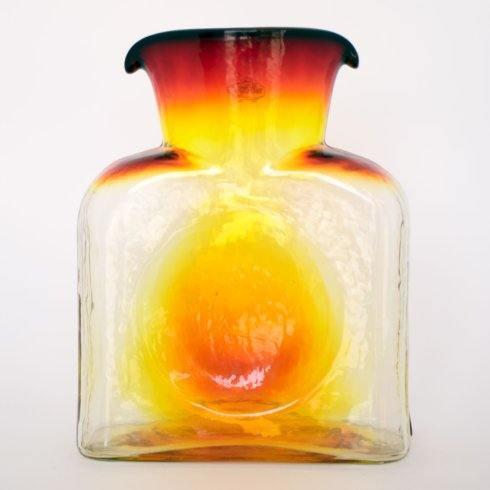 Blenko Glass Co   Water Bottle Straight Optic Topaz BG-006 $69.00