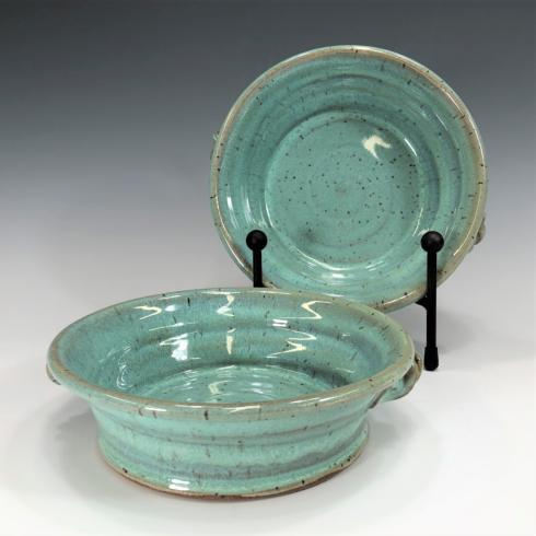 Babcock Exclusives  Steve Tubbs Pottery Sea Spray Opal Brie Baker STP-102 $36.00