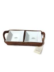 Calaisio   Rectangular Tray w/2 Porcelain Inserts CAL-155 $75.00