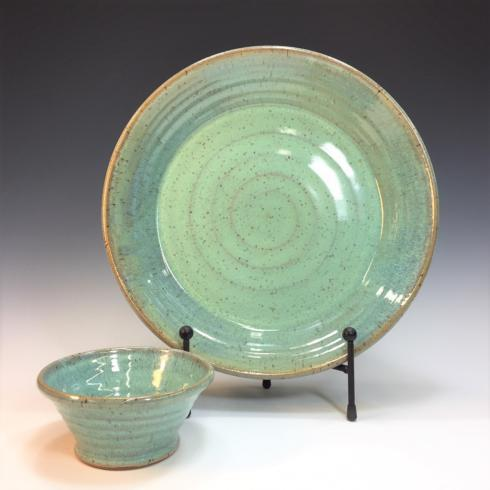 Babcock Exclusives  Steve Tubbs Pottery Sea Spray Opal Chip & Dip STP-109 $70.00