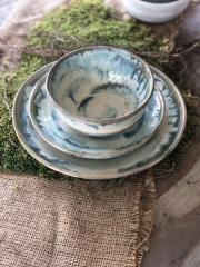 Etta B Pottery  Dinnerware - Townhouse Opal Blue Round Bowl EBP-743 $32.50