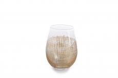 Zodax   Crosshatch Gold Stemless Wine ZOD-871 $16.50