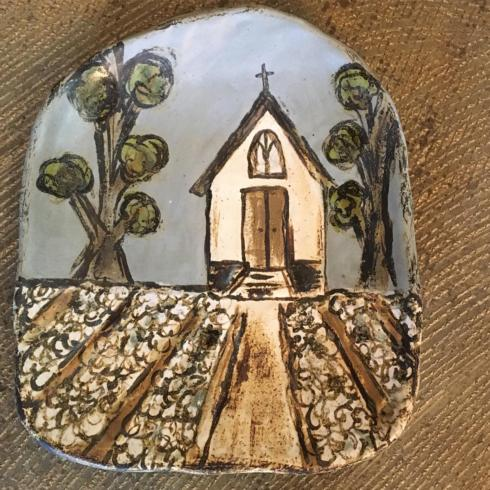 Etta B Pottery   Cotton Harvest Church Ebp-354 $78.00