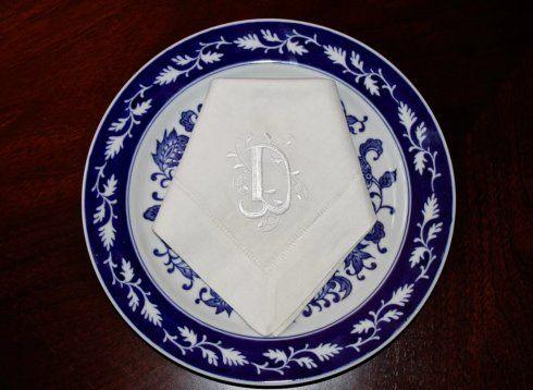 Babcock Exclusives  Southern Traditions White Napkin Eurostyle Initial STR-023 $22.00