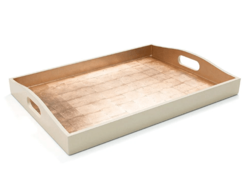Babcock Exclusives  Caspari Gold w/Ivory Rectangular Tray CAS-165 $175.00