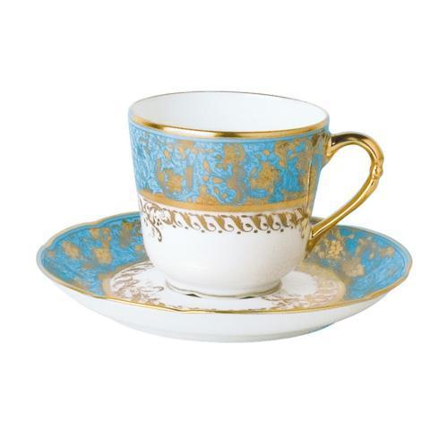 Bernardaud  Eden Turquoise Coffee Saucer BL-245 $95.00