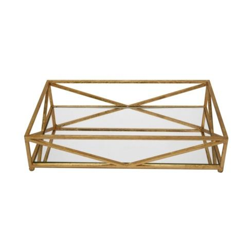 Babcock Exclusives  Worlds Away Gold Leaf Iron Tray w/Mirror WAY-079 $120.00