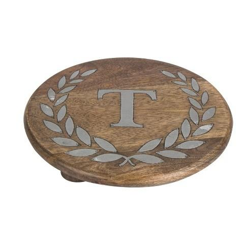 "GG Collection   Mango Wood/Metal ""T"" Trivet GGC-067 $45.00"