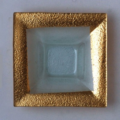 "$26.50 6"" Square Bowl Gold Asst. TCH-037"