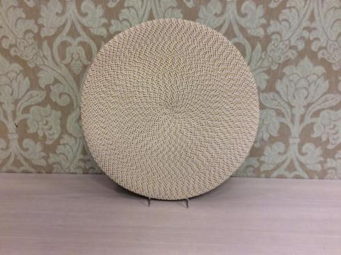 """Deborah Rhodes   15"""" Round Mat Cork Ikat Weave DRH-132 $18.00"""