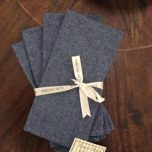 Patricia Spratt for the Home   Mariner Chambray Linen Napkin s/4 PSH-136 $34.00