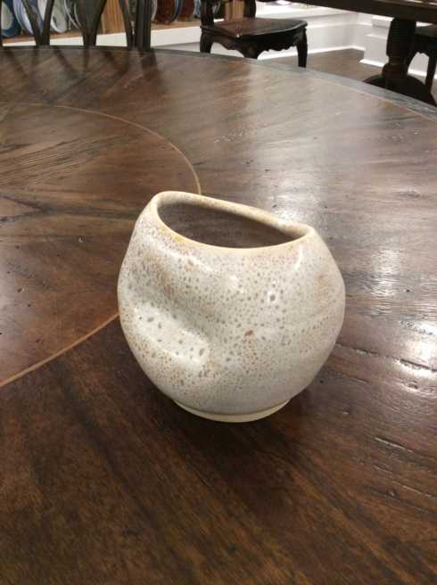 Alice Goldsmith   Flux Travertine Small Oval Vase AGS-327 $48.50