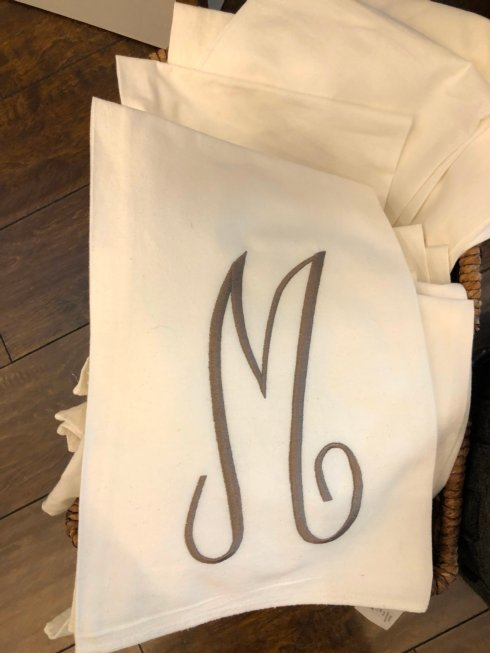 Babcock Exclusives  Hanging By a Thread Flour Sack Towel w/Initial HBT-163 $17.00