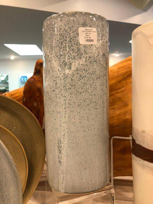"Alex Marshall   Speckled Blue 11"" Small Cylinder Vase AMS-424 $85.50"