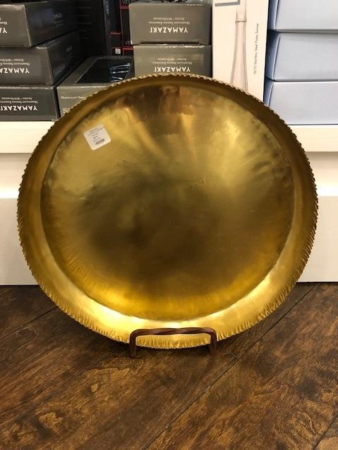 Roost   Large Crinkle Brass Tray RST-245 $69.00